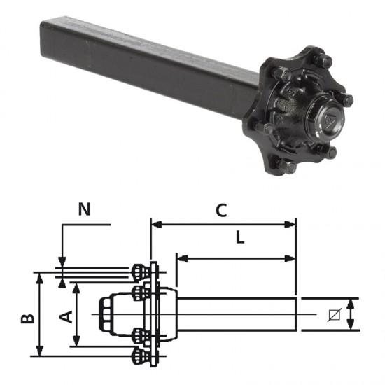 STBAX T 40mm FTF 165 5-M14/100/60 VKT