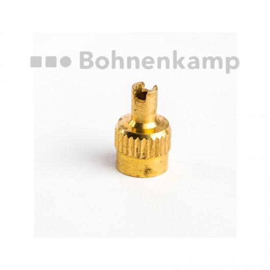 Ventilhatt VG-8 av mässing med EM ventilhålsnyckel